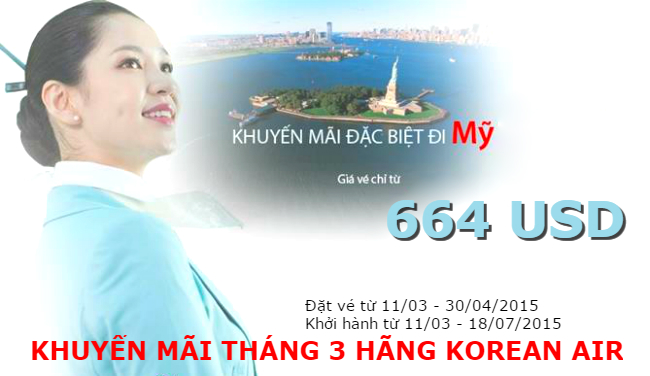 ve may bay korean air khuyen mai