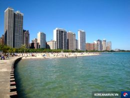 ve may bay di chicago korean air gia re