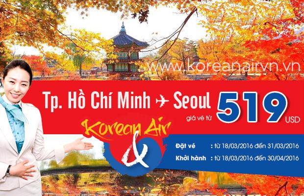 Chỉ với 519 USD cho hành trình khứ hồi TP.HCM - Seoul