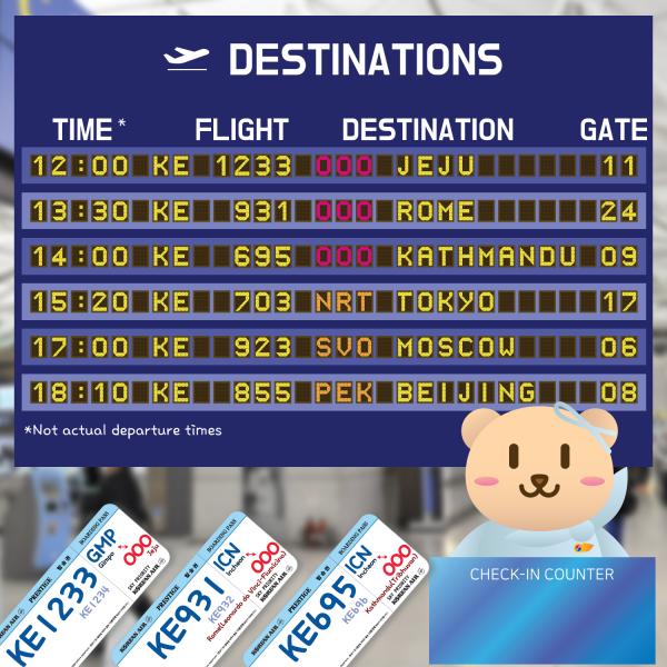 Lịch bay Korean Air