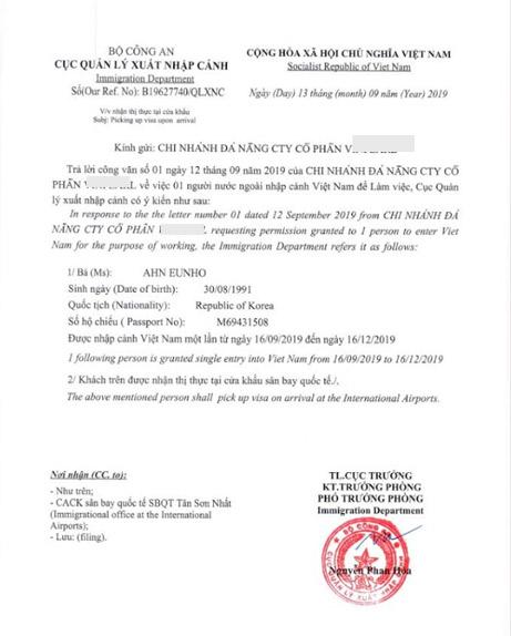 Dịch vụ xin công văn nhập cảnh Việt Nam cho chuyên gia người nước ngoài